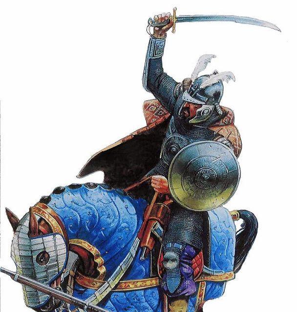 Cavalier en armure sipahi ottoman du 17eme siècle par Peter Dennis