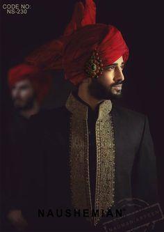 Nauman Arfeen Groom Wedding Sherwani Collection 2015-2016 (29)