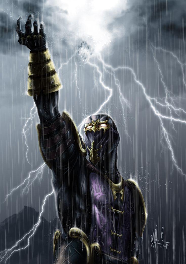 Illustration of Rain Mortal Kombat character.