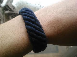 T-shirt yarn friendship bracelet