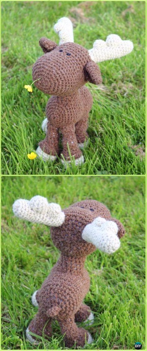Amigurumi Crochet Mr. Moose Free Pattern - Crochet Moose Free Patterns