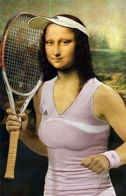 La Gioconda version: Tennis Style