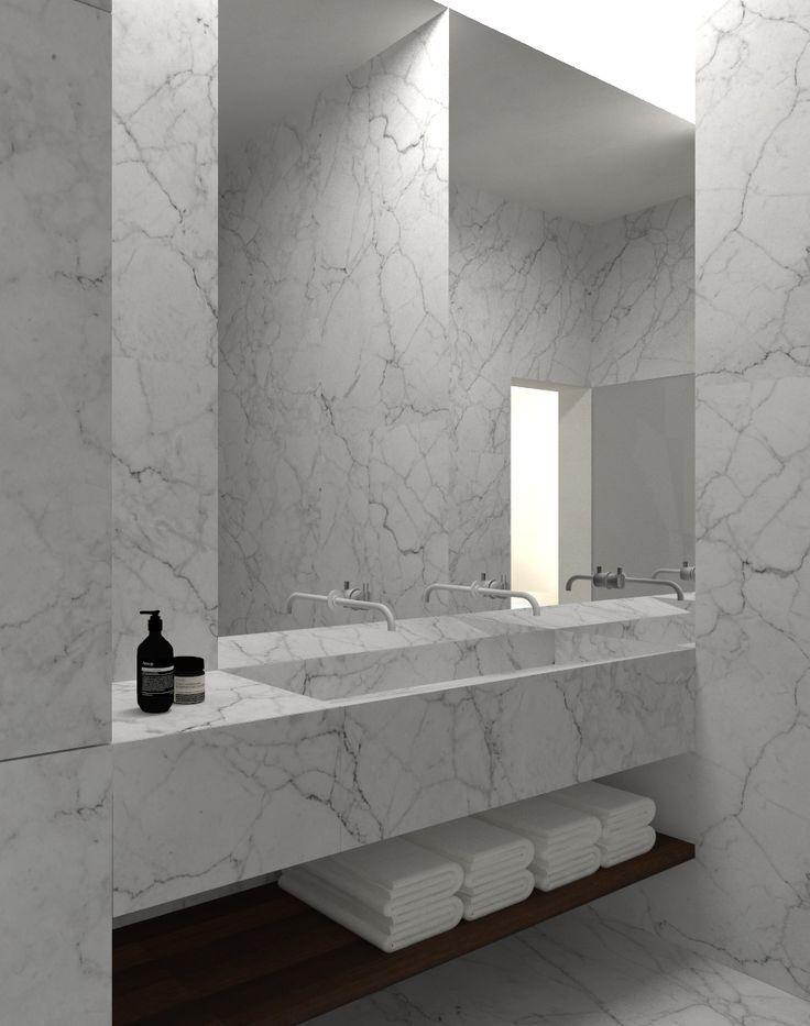Marble bathroom | Tribeca Loft by Architect Dieter Vander Velpen | @styleminimalism