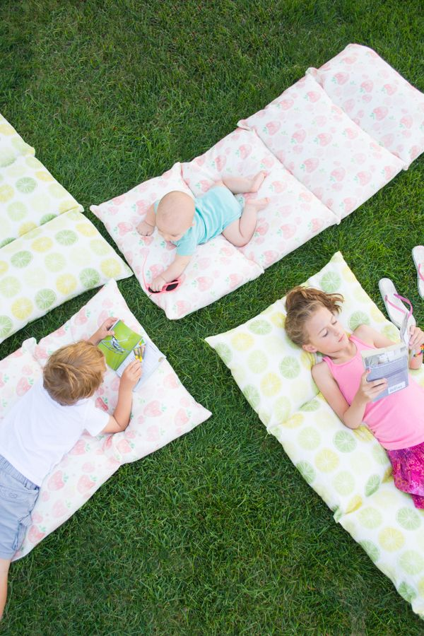 Make a Pillow Bed for Lazy Summer Days • this heart of mine