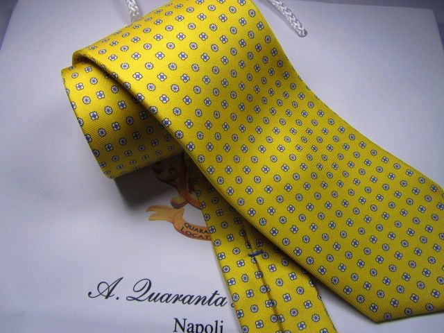 twill silk tie Quaranta Locatelli
