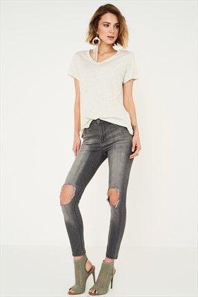 Trendyolmİlla Marka  Kadın Trendyolmilla Grey Yırtıklı Yüksek Bel Skinny Jean || Grey Yırtıklı Yüksek Bel Skinny Jean TRENDYOLMİLLA Kadın                        http://www.1001stil.com/urun/3430327/trendyolmilla-grey-yirtikli-yuksek-bel-skinny-jean.html?utm_campaign=Trendyol&utm_source=pinterest