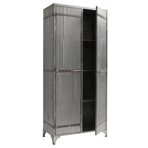 large corrugated metal cabinet