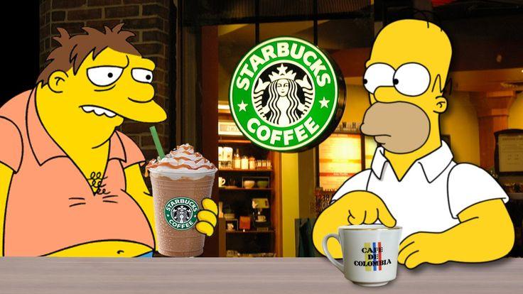 Homero prefiere el café Colombiano (Starbucks vs Café Colombiano)