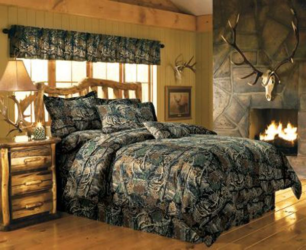 Decorating with Camo Bedding Ensembles - Visit our new Cabin Inspirations section on Lights in the Northern Sky for decorating ideas and tips.