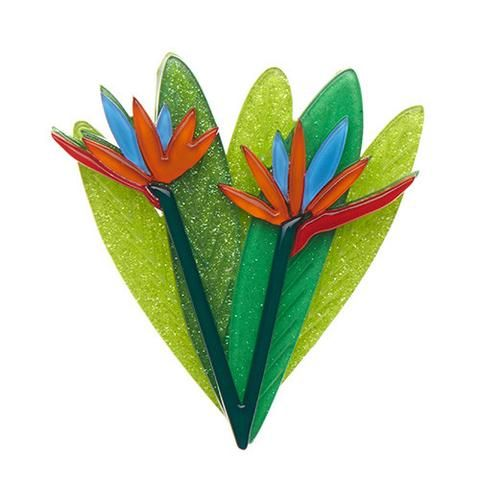"Erstwilder Limited Edition Bird of Paradise Brooch. ""Granted, they are very pretty. But what exactly is a bird of paradise? We just don't know."""