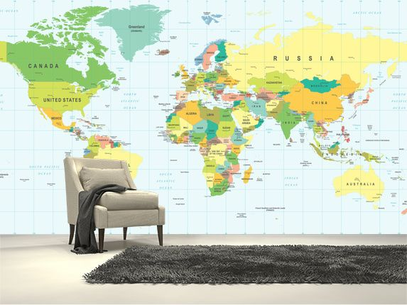 Best 25 detailed world map ideas on pinterest world map travel detailed world map wall mural gumiabroncs Gallery