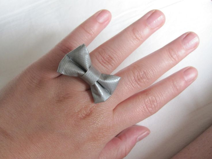 duct tape projects | How To Make A Duct Tape Ring ∙ Version by lala on Cut Out + Keep