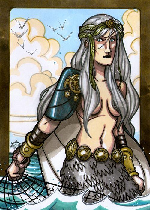 Ran, Norse, Ancestor, God, Mythology, Myth, Viking, Norhalla