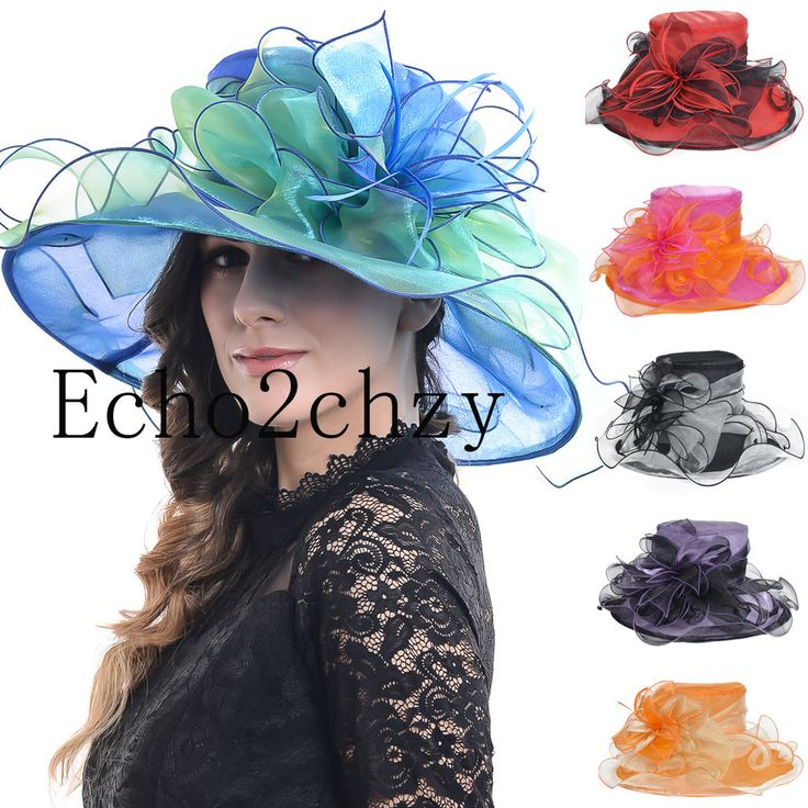 FORBUSITE Women's Wide Brim Church Party Dress Kentucky Derby Hat S037B | Clothing, Shoes & Accessories, Women's Accessories, Hats | eBay!