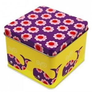 Square Tin box - Whales