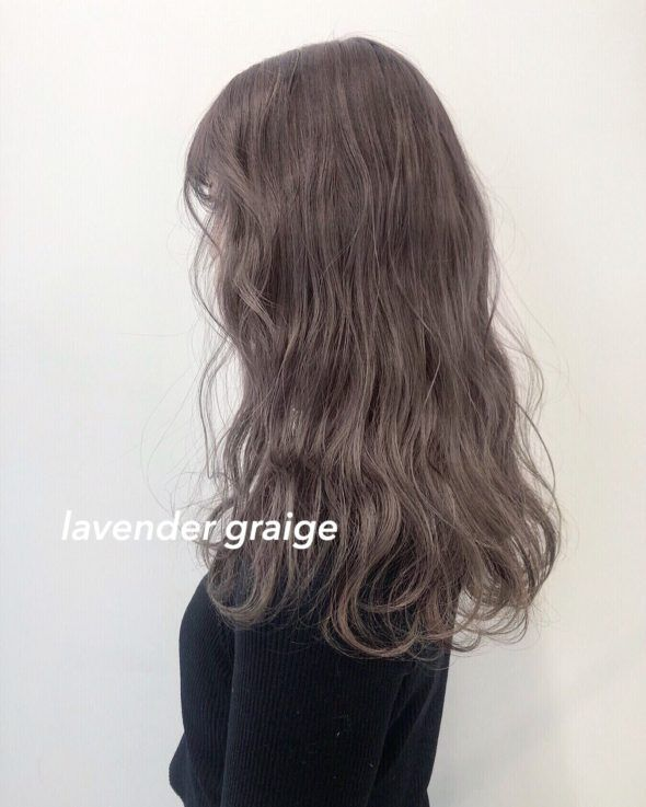 ラベンダーグレージュ ヘアスタイリング 髪色 グレージュ 髪 色