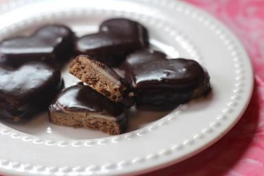 Sacher Torte flavored cookies with chocolate apricot & marzipan layers: Sacher Torte Cookies