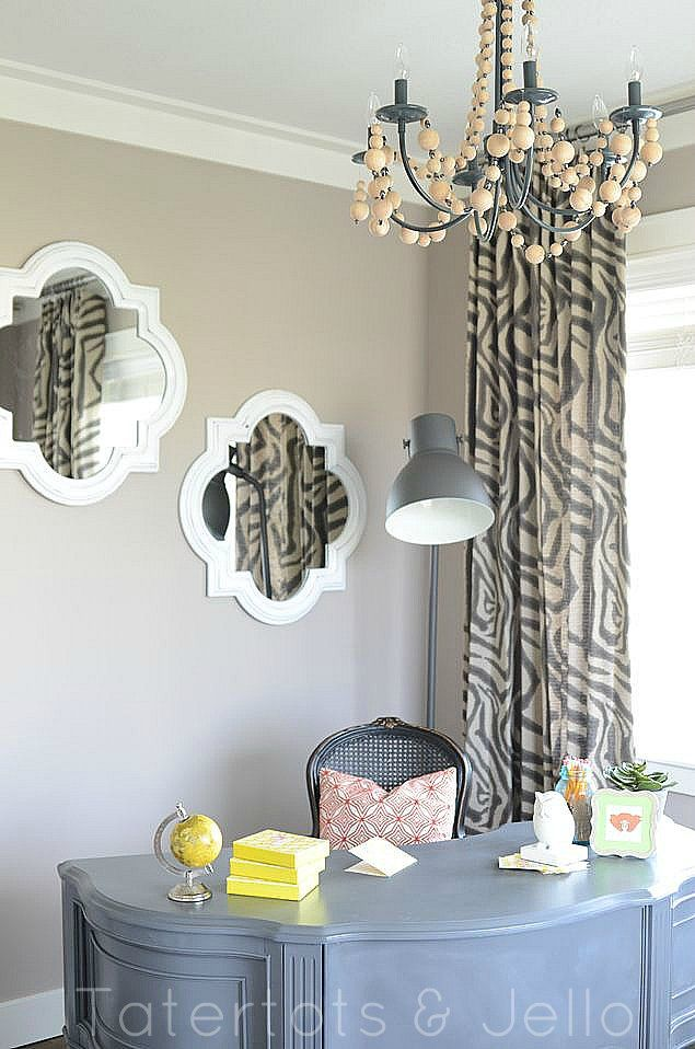 love those mirrors and desk!: Idea, Blogger House, Offices, Home Office, Office Design, Diy, Room