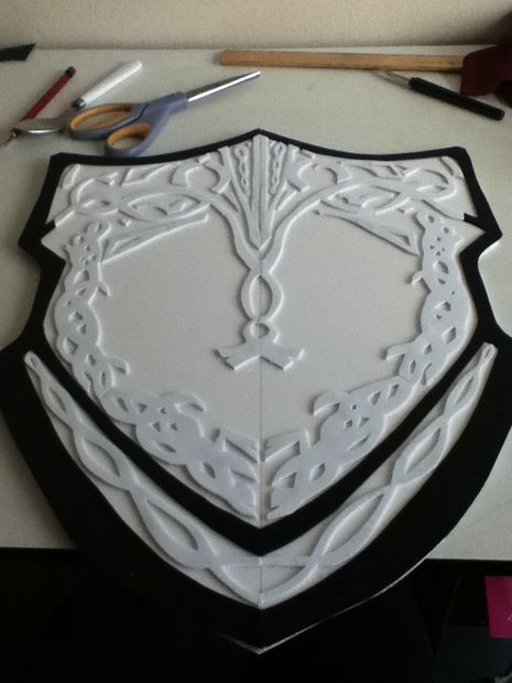 Make a shield out of foam