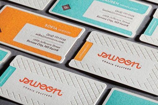 letterpress business cards: Inspiration, Colors, Letters Press, Swoon Business, Graphics Design, Letterpresses Business, Business Cards Design, Letterpress Business Cards, Swoon Cookies