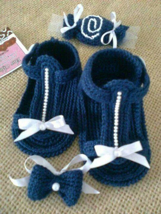 96 besten Babyschuhe Bilder auf Pinterest | Häkeln, Stricken und ...