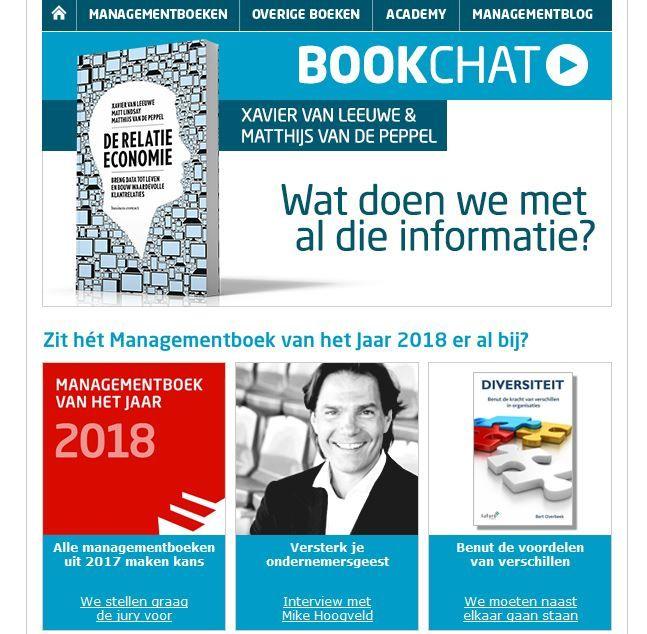 Leuk bericht in de nieuwsbrief van Managementboek; Zit het Managementboek van het Jaar 2018 er al bij? Nou het boek 'Diversiteit' van Bert Overbeek (uitgelicht in deze nieuwsbrief) zien wij als een hele goede kandidaat. #diversiteit #bertoverbeek #mgtboeknl #futurouitgevers