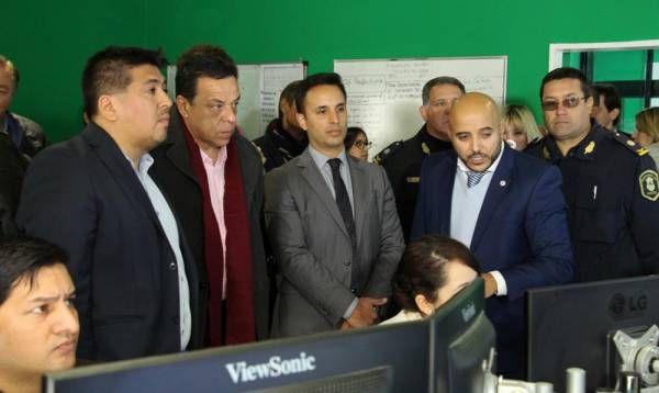 Cáffaro recibió a Ranzini para mostrarle los avances en la instalación de la nueva tecnología en seguridad