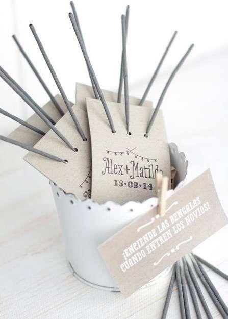 Etiquetas bengala imprimibles para bodas [FOTOS] - Etiquetas para para tres bengalas