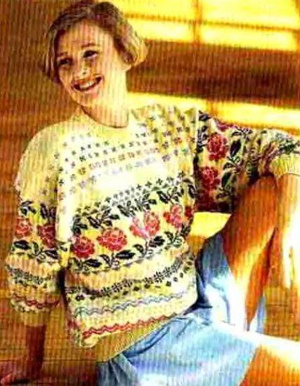 Пуловер с розами.. Обсуждение на LiveInternet - Российский Сервис Онлайн-Дневников