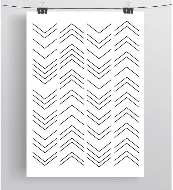Minimal Decor Digital Art Black and White Poster by PrintAvenue
