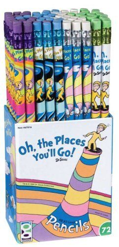 Raymond Geddes Dr. Seuss, Oh the Places You'll Go! Pencils, 72 per Display , Assorted (67816) by Raymond Geddes, http://www.amazon.com/dp/B00284AR6I/ref=cm_sw_r_pi_dp_U8Viqb0RC7VG1