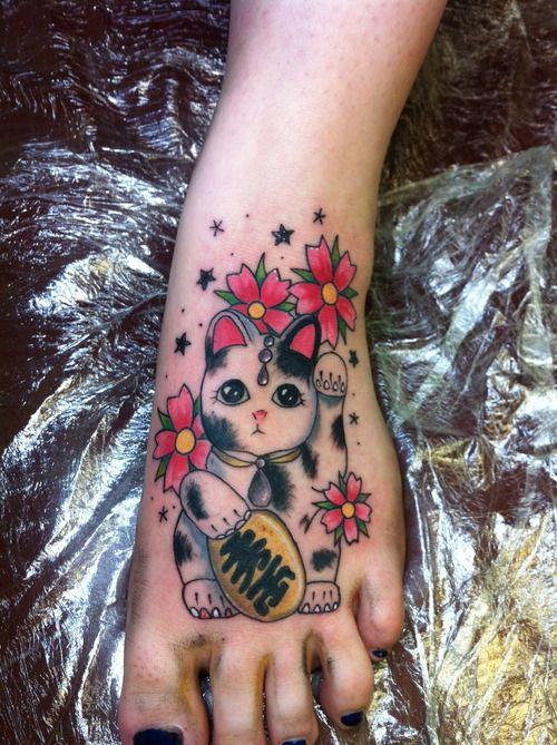 Another lucky cat tatt