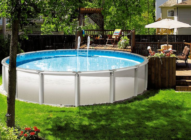 small round fiberglass above ground pools designs for small backyard