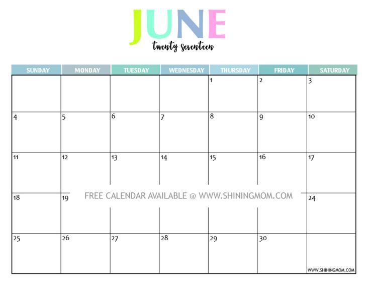 2015 june calendar printable free