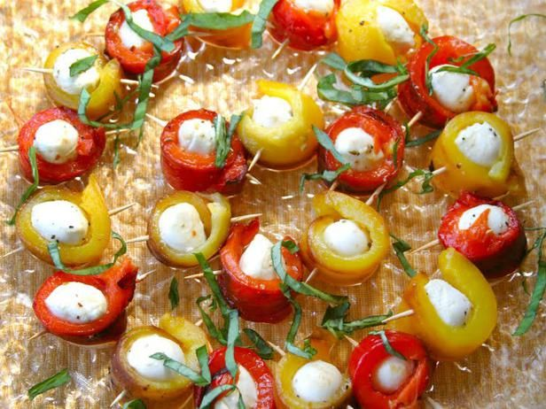 Roasted Pepper and Mozzarella Bites