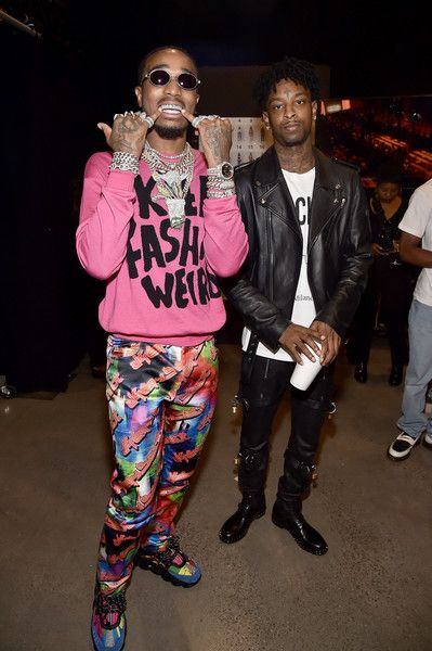 d5fec74077c5 Quavo Photos - Quavo and 21 Savage pose backstage for the Jeremy Scott show  during New York Fashion Week: The Shows at Gallery I at Spring Studios on  ...