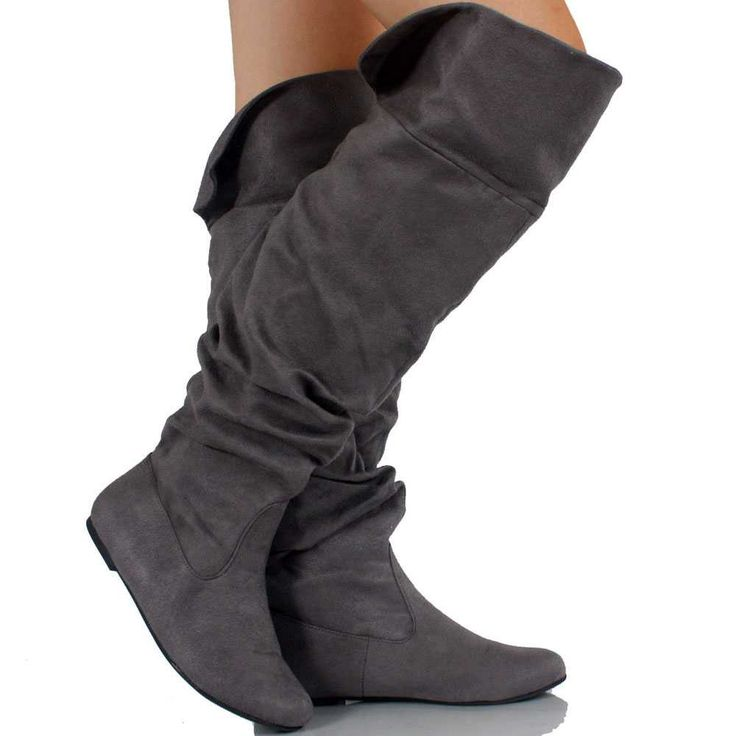 knee high slouch boots suede | Gommap Blog