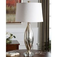 Palouse - a distressed and Lightly Antiqued silver champagne lamp