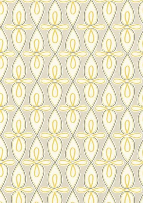 Bribie #wallpaper in Grey and Yellow from the Resort Collection by #Thibaut