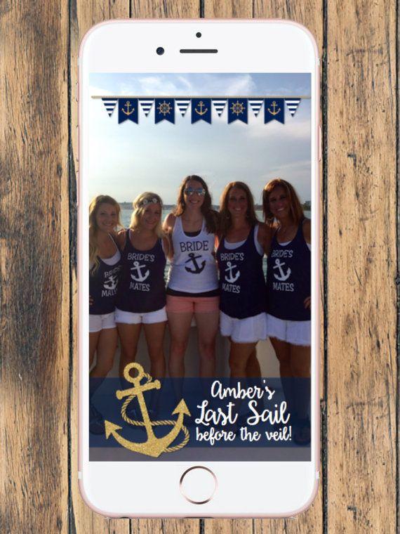 Bachelorette Snapchat Geofilter  - Last Sail Before the Veil - Bachelorette Party - Bachelorette Weekend