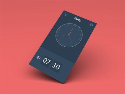 Clocky, a simple alarm clock for iOS