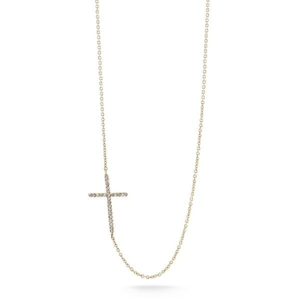Pre-owned 14K Rose Gold Small Sideways Diamond Cross Necklace ($395) ❤ liked on Polyvore featuring jewelry, necklaces, rose gold diamond necklace, cross pendant, diamond cross pendant, rose gold cross necklace and 14k rose gold necklace