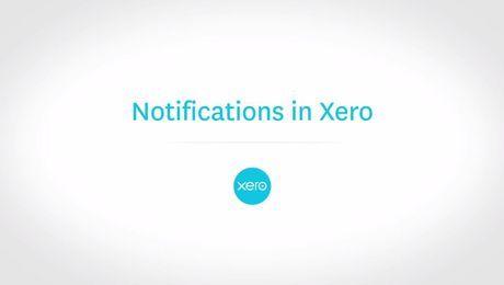 Notifications in Xero