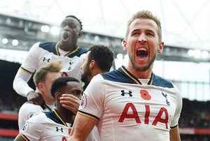 Harry Kane celebrates after scoring the equaliser from the penalty, helping Spurs keep their unbeaten run in the Premier League, having stayed unbeaten in their opening 11 top-flight games for the first time since 1960-61 - which is when they last won the title