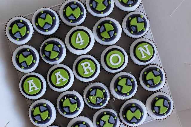 Ben 10 Watch Mini Cupcakes by TheLittleCupcakery, via Flickr