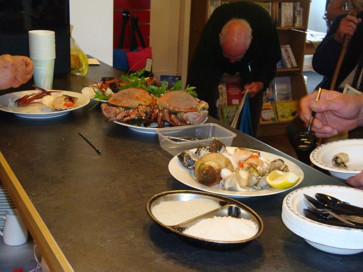 Seafood delights skillfully prepared by guest chefs Eric Lionnet and Patrice Ginstiere from The George Hotel, Inveraray