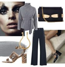 Collage, chloe pants, chloe bag, topshop shoes, snakeskin, python, nose ring, gold jewellery, amanda shadforth, oracle fox