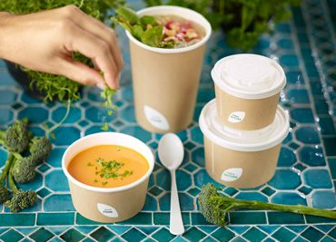 Take away bowls with lid