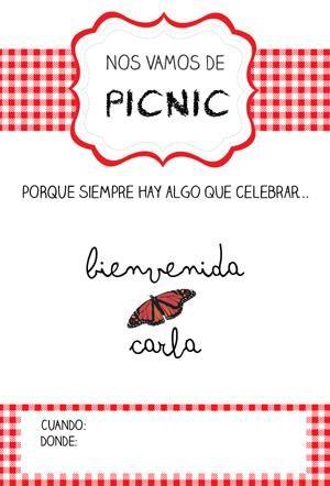 Nos vamos de Picnic: fiesta de bienvenida bebé e imprimibles y plantillas gratis