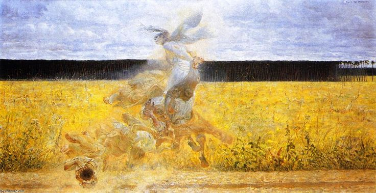 La tempête de poussière, huile sur toile de Jacek Malczewski (1854-1929, Poland)